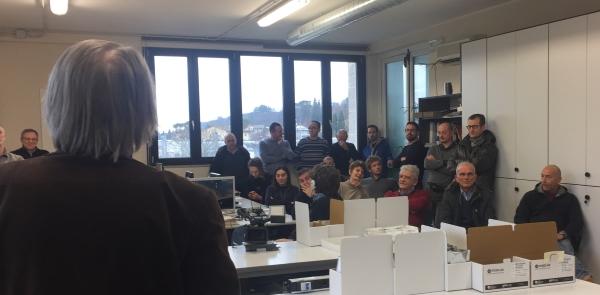 Laboratorio Chimica CDR Franceso Bonicolini il discorso del presidente Luciano Romoli