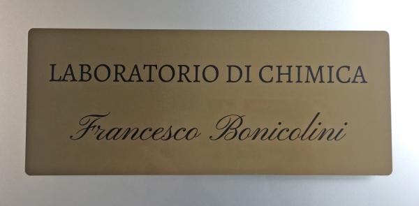 Inaugurazione laboratorio di chimica CDR dedicato a Francesco Bonicolini primo ricercatore chimico in CDR